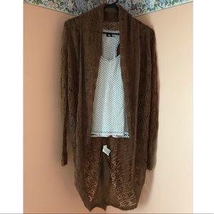 Long-sleeved Kensie cardigan in brown